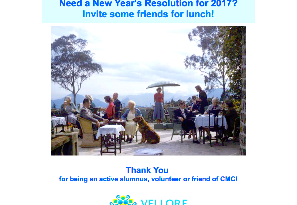 Invite Some Friends for Lunch this New Year