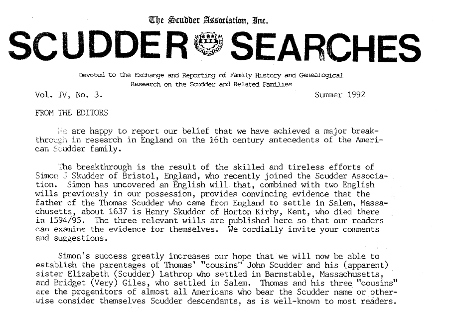 Scudder Searchs Vol IV, no. 3