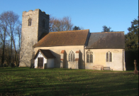 Church of St. Mary in Naughton, Suffolk, England