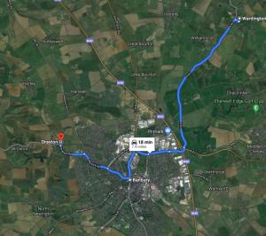 Wardington, Warkworth, Banbury and Drayton, Oxfordshire by Google Maps