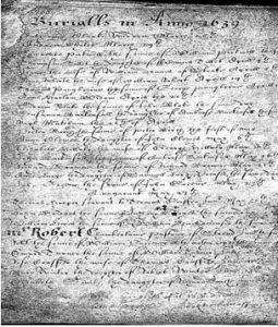 Rev. Robert Chamberlayne, burial record