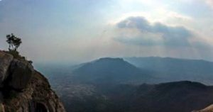 Jawadhi Hill Landscape with Clouds