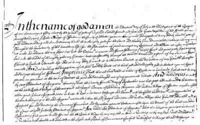 The 400-year-old Will of Henry Skudder, Yeoman of Horton Kirby, Kent